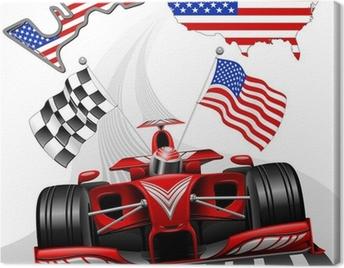 Formula 1 Race Car GP Austin USA Canvas Print