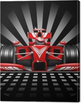 Formula 1 Red Race Car Canvas Print
