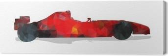 Formula racing car. Red abstract geometric vector illustration. Canvas Print
