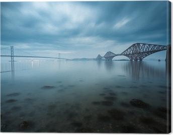 Forth bridges in Edinburgh, Scotland Canvas Print