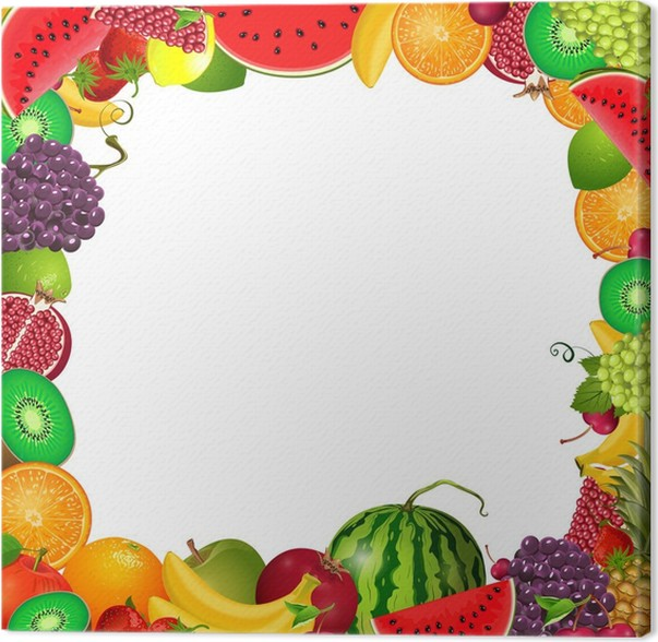 frame template of fruit for you design Canvas Print • Pixers® • We ...
