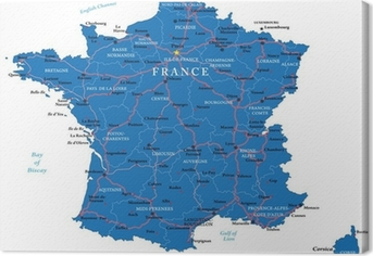 France map Canvas Print