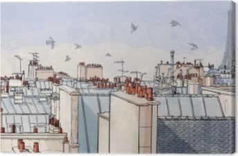 France - Paris roofs Canvas Print