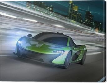 frankfurt city night racer Canvas Print