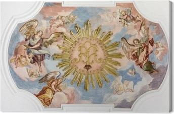 fresco angels Canvas Print