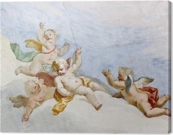 Fresco Wieskirche Canvas Print