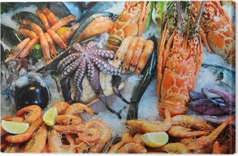 Fresh seafood Canvas Print