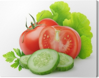 Fresh vegetables isolated on white Canvas Print