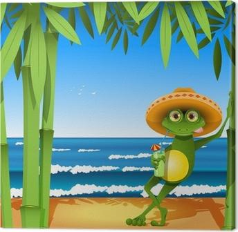 frog on the beach Canvas Print