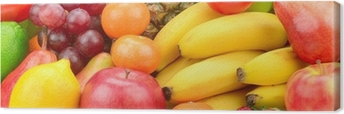 fruits and vegetables background Canvas Print