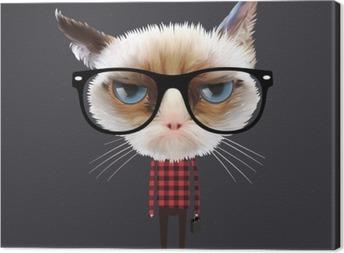 Funny cartoon cat, vector Eps10 illustration. Canvas Print
