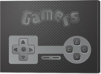 game console theme Canvas Print