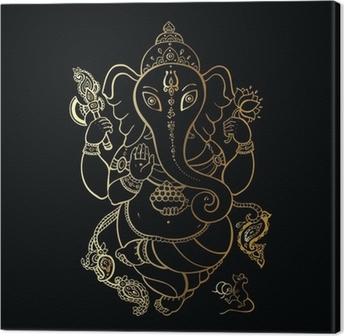 Ganesha Hand drawn illustration. Canvas Print