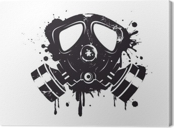 Gasmaske Graffiti Canvas Print