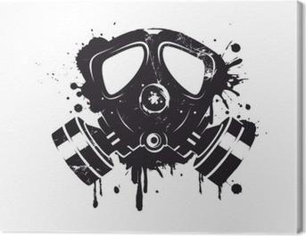 Gasmaske Graffiti Canvas Print