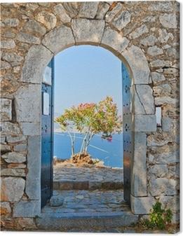 Gate in Palamidi fortress, Nafplio, Greece Canvas Print