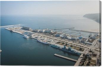 Gdynia Skwer Kościuszki widziany z Sea Towers Canvas Print