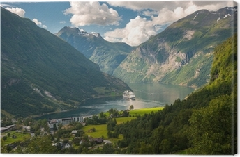 Geiranger fjord, Norway Canvas Print
