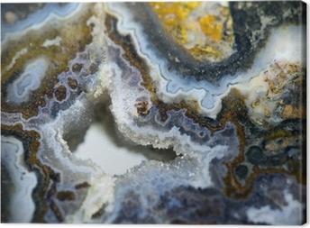 Gem stone agate Canvas Print