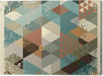 geometric background Canvas Print