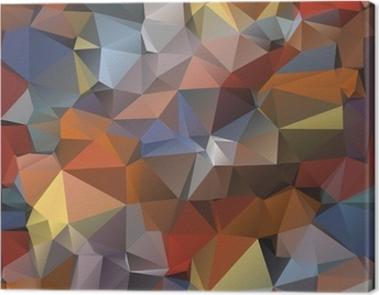 Geometric pattern, triangles background. Canvas Print