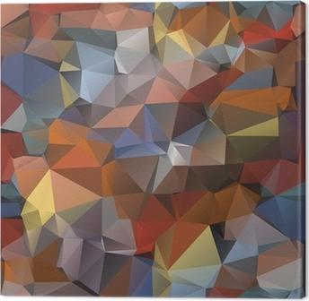 Geometric pattern, triangles background. Canvas Print