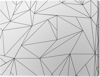 Geometric simple black and white minimalistic pattern, triangles or stained-glass window. Can be used as wallpaper, background or texture. Canvas Print