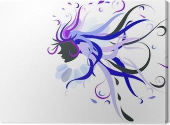 Goddess of blues Canvas Print