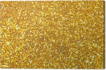 golden glitter background Canvas Print