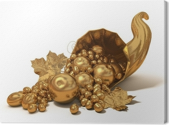 Golden horn of plenty Canvas Print