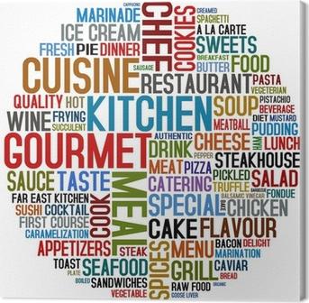gourmet and cuisine Canvas Print