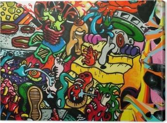 graffiti art urbain Canvas Print