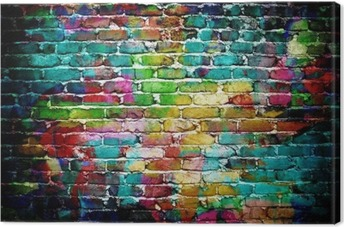 graffiti brick wall Canvas Print