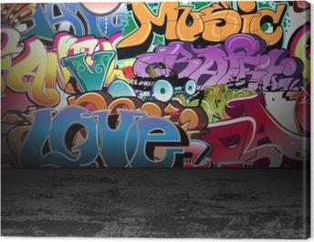 Graffiti wall urban street art painting Canvas Print