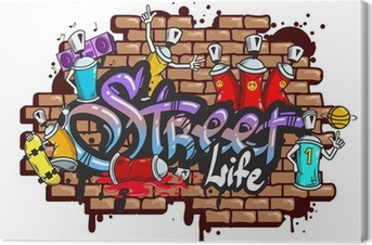Graffiti word characters composition Canvas Print