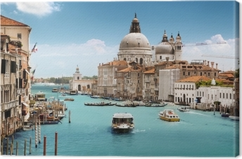 Grand Canal and Basilica Santa Maria della Salute, Venice, Italy Canvas Print
