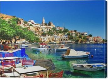 Greek holidays. Symi island Canvas Print
