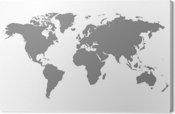 Grey blank world map canvas print pixers we live to change grey blank world map canvas print graphic resources gumiabroncs Image collections