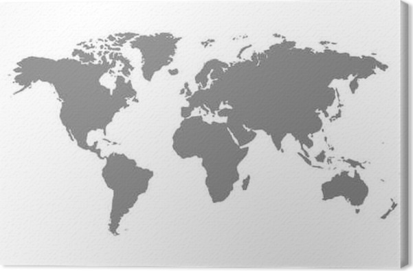 Grey blank world map canvas print pixers we live to change grey blank world map canvas print graphic resources gumiabroncs Gallery
