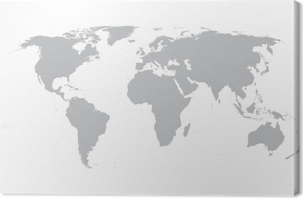 Grey vector world map with borders of all countries canvas print grey vector world map with borders of all countries canvas print gumiabroncs Images