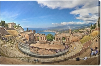 Griechisches Theater in Taormina, Sizilien Canvas Print