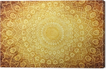 grunge background with oriental ornaments . Canvas Print