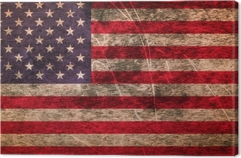 Grunge dirty flag of United States of America Canvas Print
