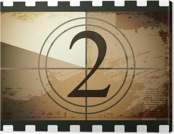 Grunge film countdown Canvas Print