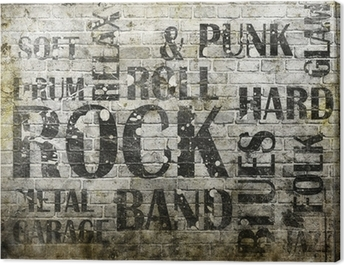 Grunge rock music poster Canvas Print