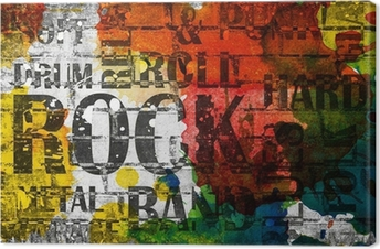 Grunge rock music poster Canvas Print