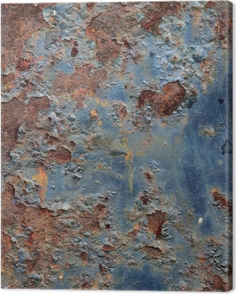grunge rusty metal texture canvas print pixers we live to change