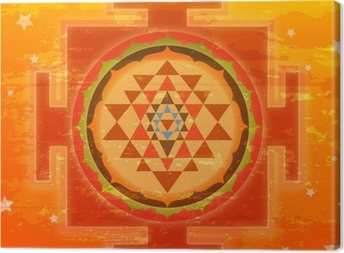 Grunge Shree Yantra Canvas Print