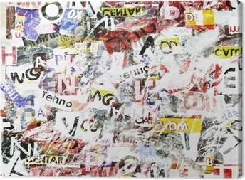 Grunge textured background Canvas Print