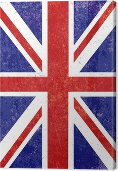 Grunge Union Jack background Canvas Print